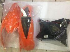 SET PLASTIQUE KTM EXC 125 250 300 2008 2009 2010 2011 COULEUR ORIGINAL 3 PIÈCES