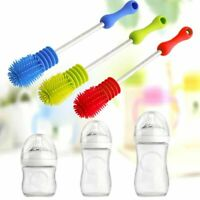 Baby Feeding Bottle Brush Rotary Long Handle Scrubbing Tool Cleaning Accessories