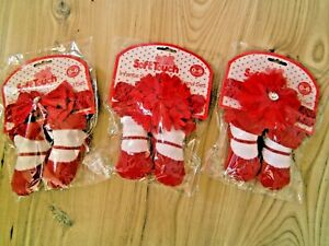 BABY GIRLS FLOWER RED HEADBAND/HAIRBAND DIAMANTE & SHOE DESIGN SOCKS GIFT SET
