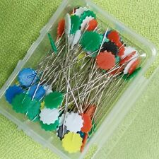 100Pcs/lot Sewing Accessories Patchwork Pins Flower Pin Sewing Pin With Box