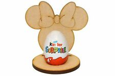 Wooden MDF Lady Mouse Head Craft Easter Kinder Egg Holder Stand Perfect Gift