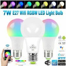 7W E27 WIFI RGBW Intelligent Smart LED Light Bulb Smartphone Alexa Google Home