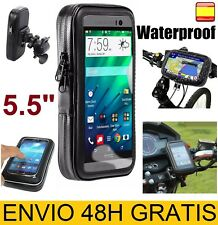 "Funda Soporte Impermeable para bicicleta mot móvil GPS telefono de 5"" 5,5''"