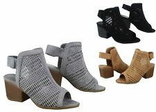 NEW Women's  Fashion Sling back Open Toe Chunky Heel Sandal Shoes Size 5 - 10