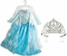 Elsa~Costume Dress +Wand + Silver Rhinestone~Tiara~Queen~Fr ozen~Nwt~Disney Store