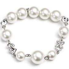 Givenchy Silver Swarovski Elements Crystals and Faux Pearl Bracelet,NWT$60