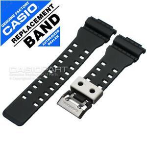 Casio Black w/ White Watch Band f/ G-Shock GA-100BW-1A GA-110BW-1A Rubber Strap