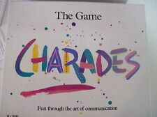 The Game of Charades Card Game 1985 fun through communication