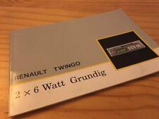 Renault Twingo Grunding 2 x 6 Watt autoradio notice utilisation mode d' emploi