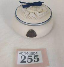 VIA VENETO Porcelain & 925 Hall Marked Silver Topped Trinket Box