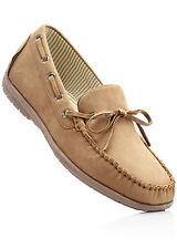 Herren Schuhe Halbschuhe Leder aussen und innen Mokassins V529 Camel 44