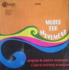 Angelo Baroncini & Bruno Battisti d'amario música para el movimiento LP RE-ISSUE sonar
