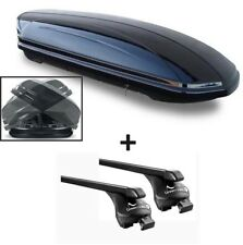 Caja de techo vdpmaad 580 L + barras de techo Acostado Peugeot 4008 12