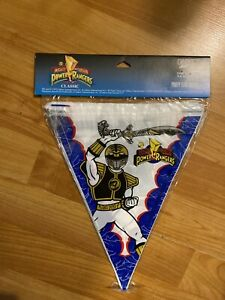 Power Rangers Mighty Morphin Party FLAG BANNER 1995 Saban  (1) Banner 12 Ft NOS