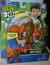Ben 10 HOT SHOT Action Figure With Flame Blasts PLAYMATES TOYS NEW
