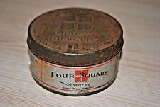 rare vintage Fore Square tobacco tin box