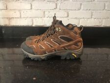 Merrell Men's Earth Hiking Outdoor Trail Vibram Leather DRY Boots Brown Size 10