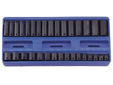 "Genius Tools 32 Piece 3/8"" Dr. Metric Deep Impact Socket Set - TF-332M"