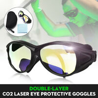 OD+7 Protective Laser Goggles W/ CO2 10600nm OD Double-Layer Glasses Eyewear