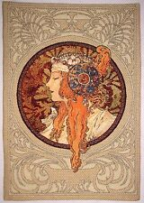 "NEW ALPHONSE MUCHA BYZANTINE BLONDE FULLY LINED 28"" TAPESTRY WALL HANGING 6007"