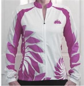 LAMBDA Ladies Womens Cycling Bike Jersey Mauve & White Sport Jacket S to 4XL
