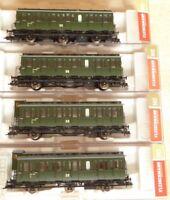 Fleischmann 507002, 507052, 507102, 507152 H0 Set 4 Stück Abteilwagen DR Epoche3