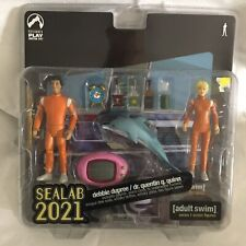Sealab 2021 Debbie Dupree & Dr. Quentin Quinn Figures 2005 Palisades Toys Sealed
