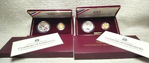 Lot of 2 1988 Olympic 2 Coin Gold & Silver Set OGP&COA 1) Proof 1) Unc 210926