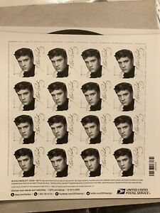 Elvis Presley Full Sheet Of Stamps 2015 Mint Never Hinged