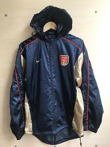 Arsenal London 2001/2002 Zip Jaket Sz S Nike football soccer training suite coat