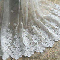 15 Yards Flower Evening Dress Lace Edging Costume Tulle Embroidery DIY Ribbon