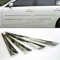 Chrome Side Skirt Door Line Sill Garnish Molding Trim Cover 4Pcs for UNIVERSAL
