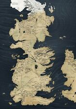 POSTER IL TRONO DI SPADE GAME OF THRONES MAP OF MAPPA DI WESTEROS STARK #47
