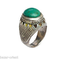 Orient Afghanistan argent massif turquoise Bague perse silver turquoise ring nr434