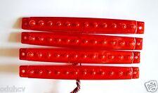 4 x 12V LUNGO LED Rosso Luci di posizione laterali Fari CAMION