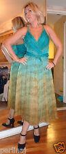 Marvel by La Perla sequined green ombre chiffon corset dress size 48 ret$1199
