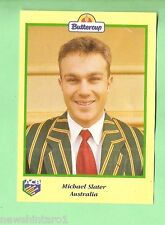 1995 BUTTERCUP CRICKET CARD - MICHAEL SLATER PORTRAIT, AUSTRALIA