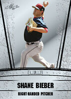 SHANE BIEBER (25) count lot 2018 Leaf Silver Draft Rookie Cleveland Indians mint
