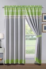 Lime Green Grey Curtains Ebay