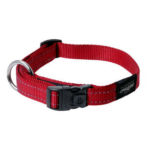 Rogz Dog Collar Utility Side Release Collar Lumberjack X-Large fits 17-29in Red