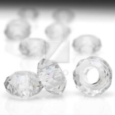 10pcs Crystal Rondelle Beads 14x14x8mm Large Hole Center Drilled DIY Jewelry BF