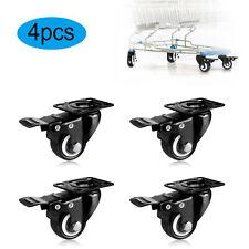 Black Heavy Duty Swivel Castor Wheels Trolley Furniture Caster Zuni Lock Nut 4pc