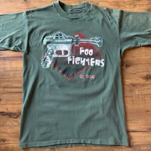 Vintage foo fighters t shirt Bootleg Single Stitch Band Tee Rare