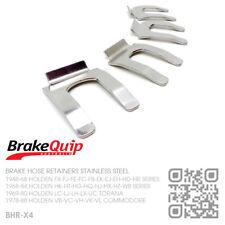 BRAKE HOSE CLIPS STAINLESS STEEL X4 [HOLDEN EJ-EH-HD-HR UTE/VAN/SEDAN/WAGON/X2]