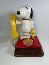 Vintage 1976 Snoopy & Woodstock Rotary Phone American Telecommunications Works!