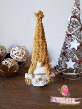 Yellow Swedish Tomte Nisser Scandinavian Gnome Christmas Present HandMade in UK