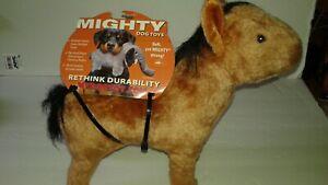 "MIGHTY Dog Toy  Heavy Duty Plush  HORSE  11"" HIGH X 12"" LONG"
