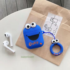 3D Sesame Street Cookie Headset Airpods Charge Case Cover Skin For Airpod+ Ring