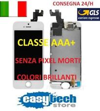 DISPLAY LCD iPhone 5S Assemblato COMPLETO Fotocamera Frame Altoparlante BIANCO