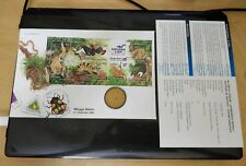 Malaysia 1996 StampWeek Wildlife Hidupan Liar Stamp + Nordic Gold Deer Coin FDC